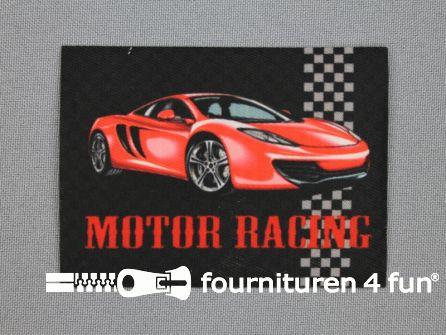Applicatie 63x85mm rechthoek motor racing