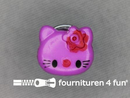 Kinder knoop 14mm hello kitty lila