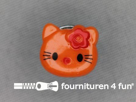 Kinder knoop 14mm hello kitty oranje