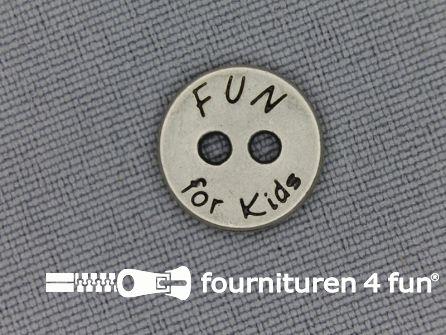 Kinder knoop 13mm fun zilver