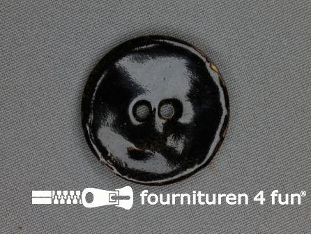 Kokos knoop 35mm zwart glitter