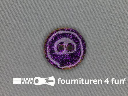 Kokos knoop 23mm glitter cyclaam