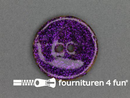 Kokos knoop 35mm glitter cyclaam