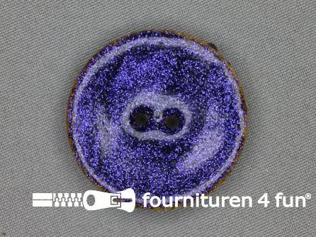 Kokos knoop 40mm glitter blauw paars