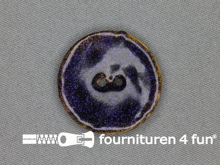 Kokos knoop 35mm glitter donker paars