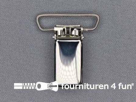 Bretelclips 24mm chroom smal