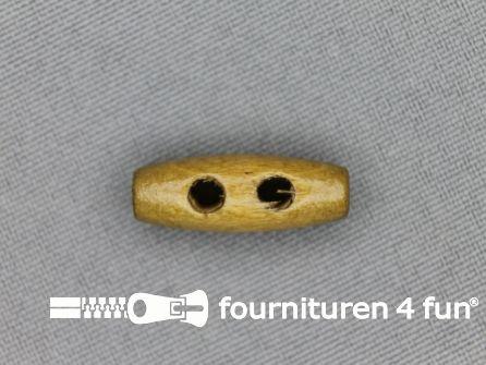 Houtje touwtje knoop 22mm licht hout