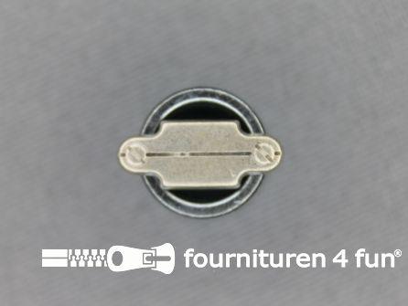 Houtje touwtje knoop 15mm zilver