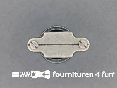 Houtje touwtje knoop 20mm zilver