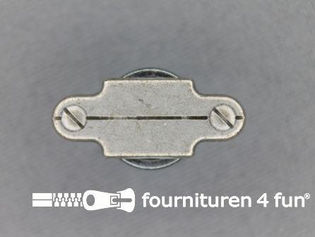 Houtje touwtje knoop 22mm zilver