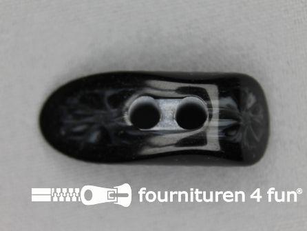 Houtje touwtje knoop 35mm kunststof zwart