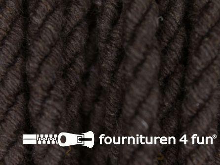 Katoenen meubel koord 5mm donker bruin