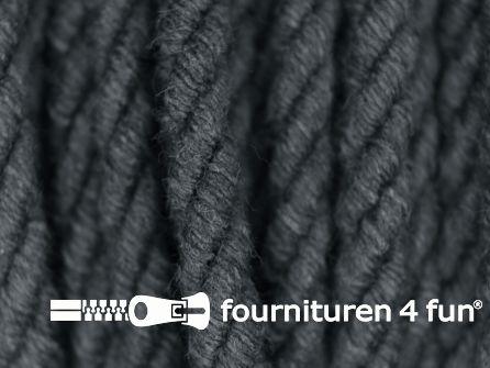 Katoenen meubel koord 5mm donker grijs