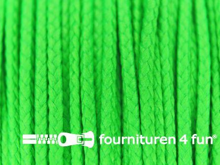Koord 1mm rol neon groen 50 meter