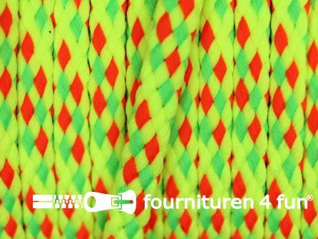 Jassen koord 5mm neon multicolor