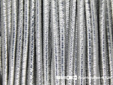 Elastisch koord 1.2mm rol zilver 50 meter
