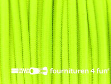 Rol 50 meter elastisch koord 1mm neon geel