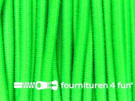 Rol 50 meter elastisch koord 1mm neon groen