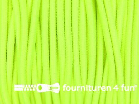 Rol 50 meter elastisch koord 2mm neon geel