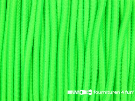 5 meter elastisch koord 2mm neon groen