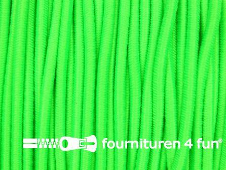 Rol 50 meter elastisch koord 2mm neon groen