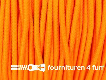 Rol 50 meter elastisch koord 2mm neon oranje