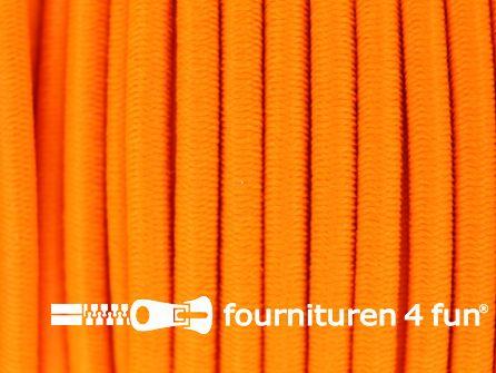 5 meter elastisch koord 3mm neon oranje