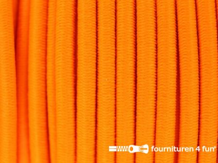 Rol 50 meter elastisch koord 3mm neon oranje