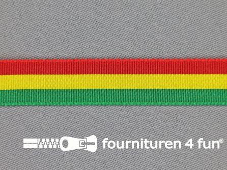 Carnavals lint 12mm rood, geel en groen