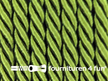Kaart 40 meter Viscose meubel koord 5mm olijf groen