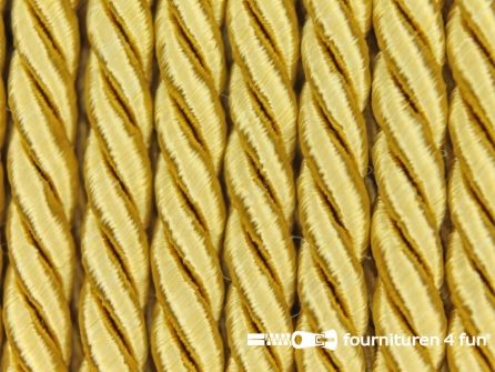 Viscose meubel koord 5mm goud geel