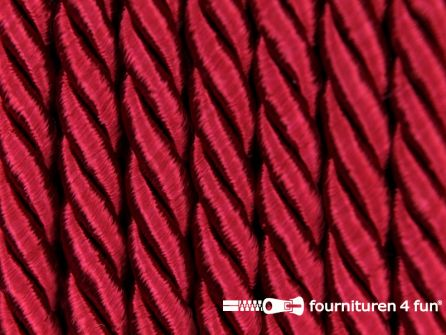 Viscose meubel koord 5mm bordeaux rood