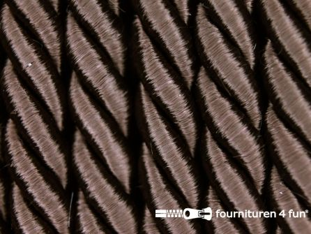 Viscose meubel koord 8mm donker bruin