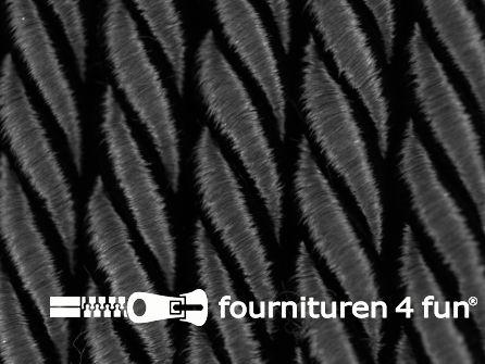 Viscose meubel koord 8mm zwart