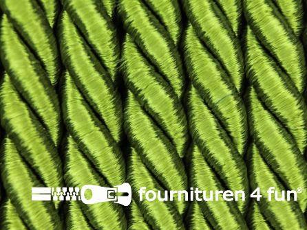 Kaart 20 meter Viscose meubel koord 8mm olijf groen