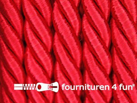 Viscose meubel koord 8mm rood
