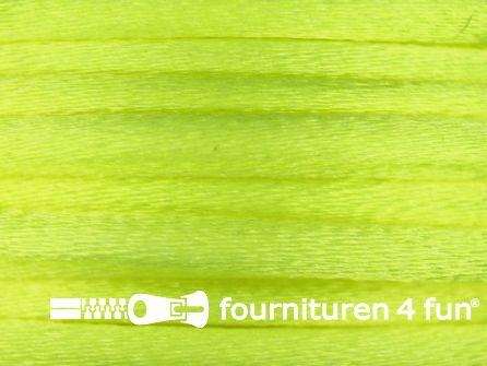COUPON Glans koord 3mm neon geel - 2 stukken, totaal 29 meter (25+4 meter)