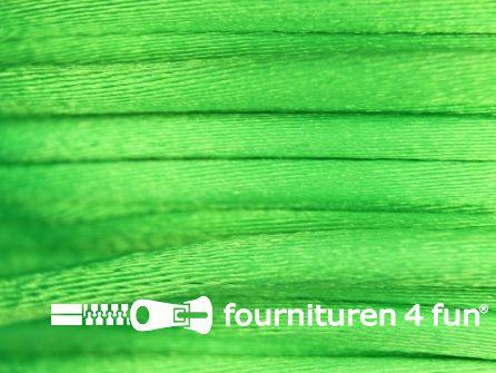 COUPON Glans koord 3mm lime groen - 25 meter