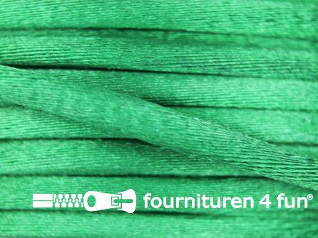 Glans koord 3mm emerald groen 25 meter