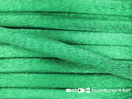 COUPON Glans koord 3mm emerald groen - 25 meter