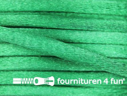 COUPON Glans koord 3mm emerald groen - 2 stukken, totaal 8,5 meter (4+4,5 meter)