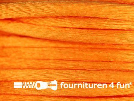 Glans koord 3mm oranje 25 meter