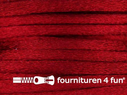 Glans koord 3mm kersen rood 25 meter
