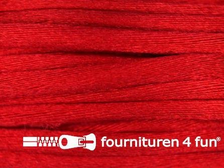 Glans koord 3mm helder rood 25 meter