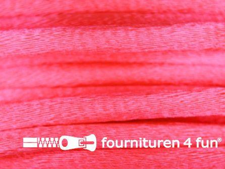 COUPON Glans koord 3mm neon roze - 13,9 meter
