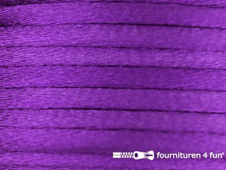 COUPON Glans koord 3mm paars - 2 stukken, totaal 27 meter (25+2 meter)
