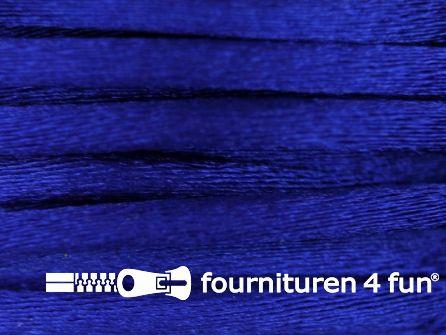 COUPON Glans koord 3mm kobalt blauw - 3 stukken, totaal 33,4 meter (3,5+8+21,9 meter)