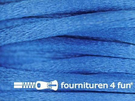COUPON Glans koord 3mm hemels blauw - 3 stukken, totaal 28 meter (7,8+10,3+12 meter)