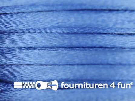 Glans koord 3mm jeans blauw 25 meter