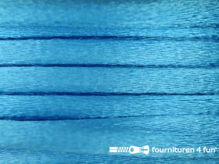 Glans koord 3mm aqua blauw 25 meter